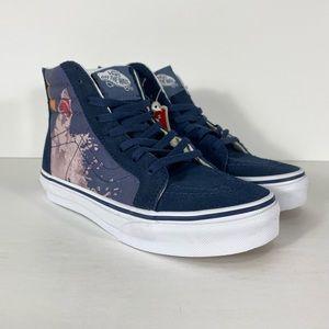 Vans Sk8-Hi Zip Shark Attack Dress Blue Sneakers
